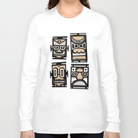 tiki Long Sleeve T-shirts featuring Tiki Tiki by Ceskus