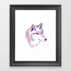 Wolf Watercolor Print Framed Art Print