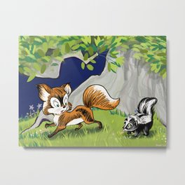 Spunky Little Skunk Metal Print