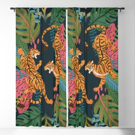 Jungle Cats - Roaring Tigers Blackout Curtain