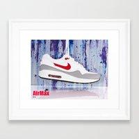 nike Framed Art Prints featuring Nike by Reimer Marfil