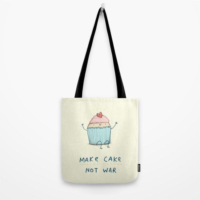 Make Cake Not War Tote Bag