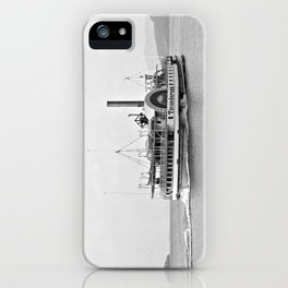 Ticonderoga Side Wheeler Steamboat iPhone Case
