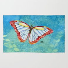 Stained Glass Butterfly Rug
