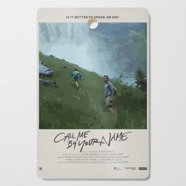 Call Me by Your Name (2017) Minimalist Poster Cutting Board