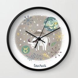 Taurus Earth Wall Clock