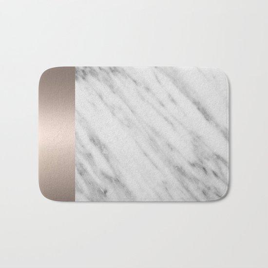 Carrara Italian Marble Holiday White Gold Edition Bath Mat