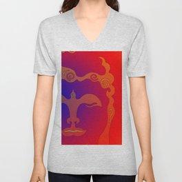 Buddha Head Rainbow I Unisex V-Neck