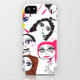 Character collage iPhone Case
