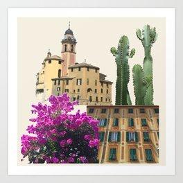 Liguria Town Art Print