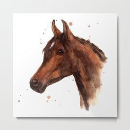Stallion Gaze Metal Print
