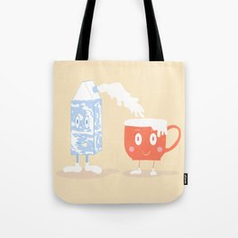 Milky Couple Tote Bag