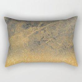 Gold Glitter Into Mid Marble Rectangular Pillow