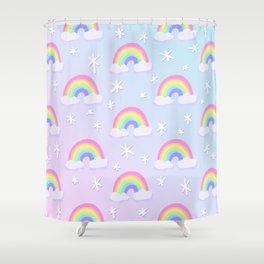 Magical Pastel Rainbows! Shower Curtain