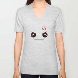ANGRY! Kawaii Face (Check Out The Mugs!) Unisex V-Neck
