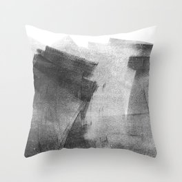Black and Grey Concrete Texture Urban Minimalist Throw Pillow