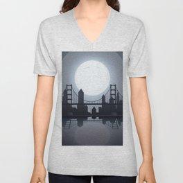 Full Moon Manhattan Unisex V-Neck