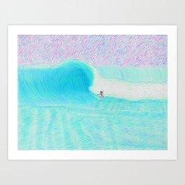SURF GUITAR no. 1   WATER COLOR Art Print