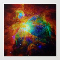 nebula Canvas Prints featuring Orion NEBula  : Colorful Galaxy by 2sweet4words Designs