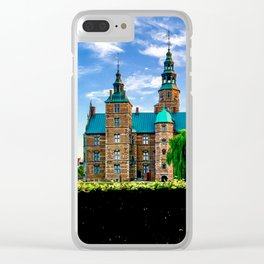 Rosenborg Castle in Copenhagen Denmark, Photograph of Side View just Before the Sunset Clear iPhone Case
