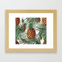 King Pineapple Framed Art Print