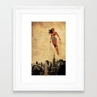 justice league Framed Art Prints featuring Wonder Women justice league by Edmond Lim