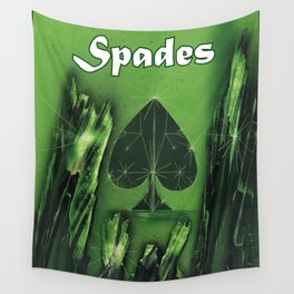 Spades Suit Wall Tapestry