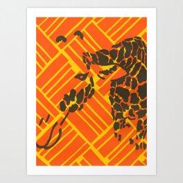Screenprinted Giraffe Art Print