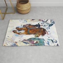 Galloping Horse by Edvard Munch Rug