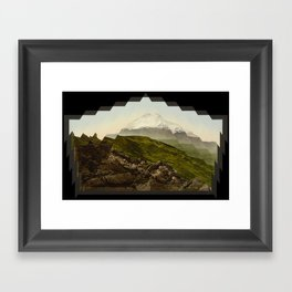 Shattered mountain Framed Art Print