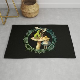 Alice and the Smoking Caterpillar - Alice in Wonderland Rug