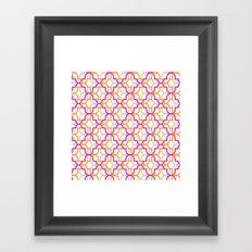 Moroccan Trellis Overlaps Framed Art Print