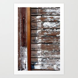 White Paint and Wood Art Print