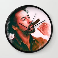 actor Wall Clocks featuring Mr Downey, Jr. by Thubakabra