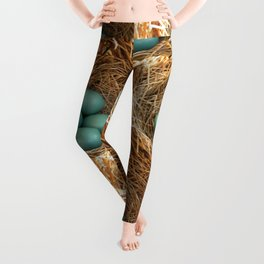 Four American Robin Eggs Leggings