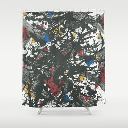 Triangles play Shower Curtain