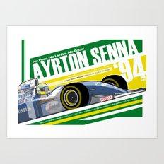 Ayrton Senna - F1 1994 Tribute Art Print