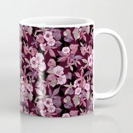 Sweet Potato Pattern / Burgundy Coffee Mug