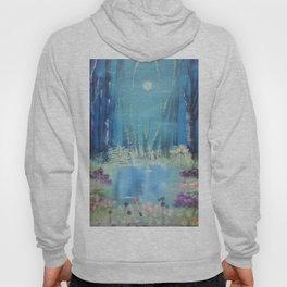 Nightfall at the pond Hoody