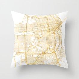 SAN FRANCISCO CALIFORNIA CITY STREET MAP ART Throw Pillow