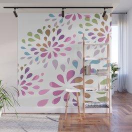 Colourful drops Wall Mural
