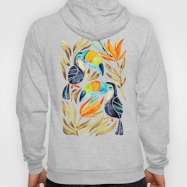 Tropical Toucans – Sepia Palette Hoody