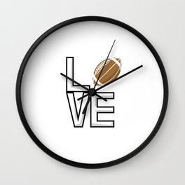Love Football Wall Clock