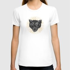 kitty attack White Womens Fitted Tee SMALL