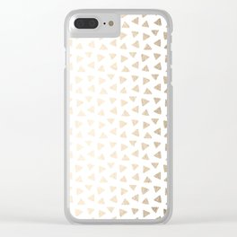 Luxe Gold Painted Polka Dots on White II Clear iPhone Case