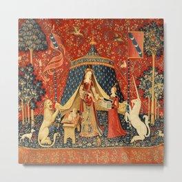 Lady And The Unicorn Desire Metal Print
