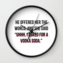 Vodka Soda Wall Clock
