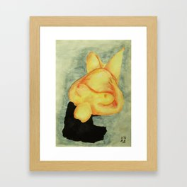 Tresses Strewn Out Framed Art Print
