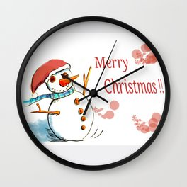 Snowguy Wall Clock