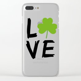 Love St Patricks Day Clear iPhone Case